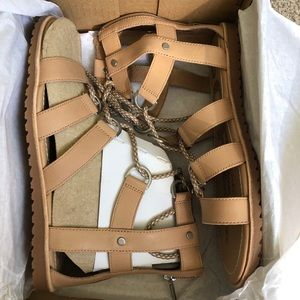 Sorel Sahara Leather Lace Up Ella Sandals
